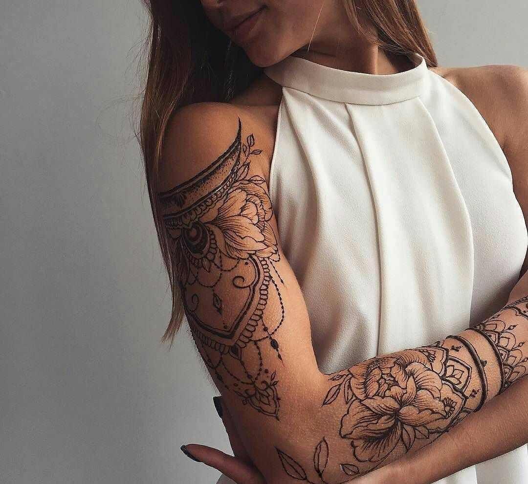 Tattoos frauen arm mandala