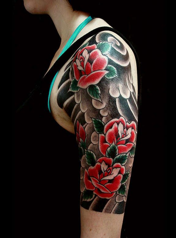 Traditional Modern Rose Tattoos 45 Something To Ink About
