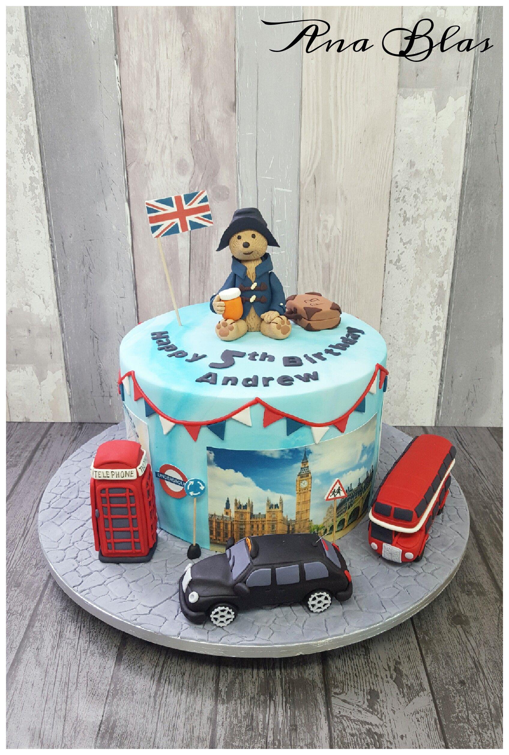 Superb Paddington Bear Cake Paddingtonbear London British Patriotic Funny Birthday Cards Online Fluifree Goldxyz