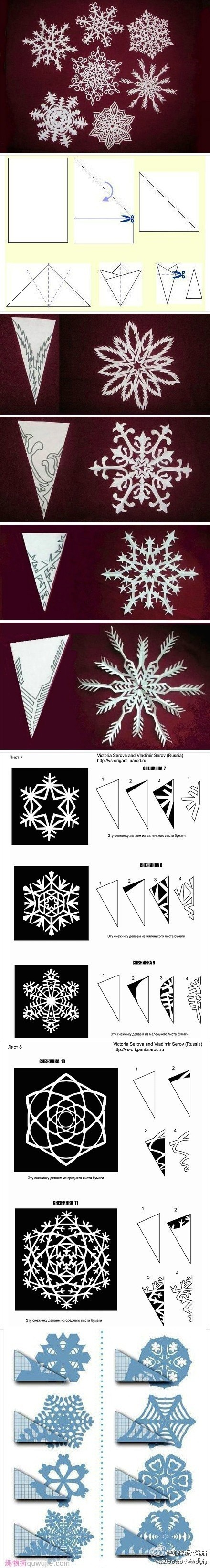 Snowflake Patterns - I wish I had the patience for these, they're gorgeous!