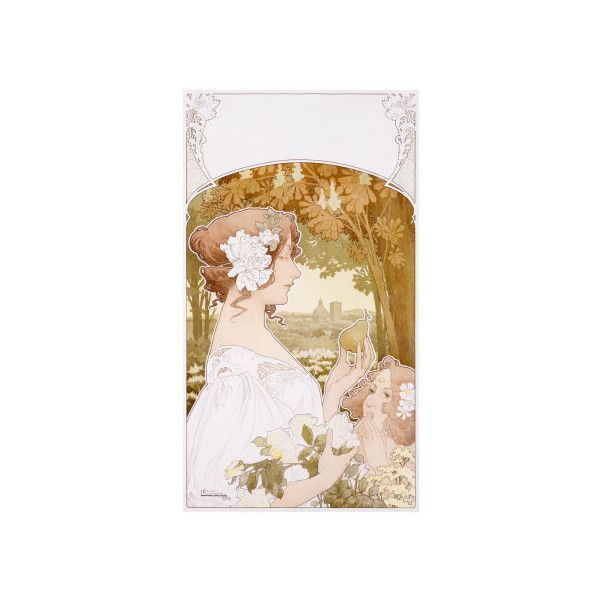 Dutch Nouveau Women Garden Giclee Print Wall Art ($42) ❤ liked on Polyvore featuring home, home decor and wall art