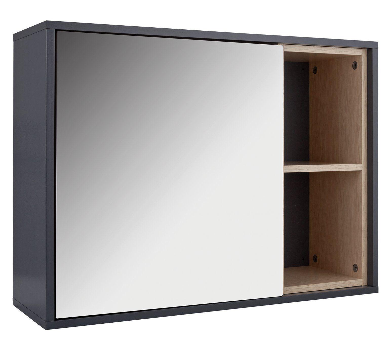 Buy Hygena 1 Door Mirrored Wall Cabinet Grey At Argos Co Uk Visit Argos Co Uk To Shop Online For Bathroom Cabinets Bathroom Furniture Home And Bathroom