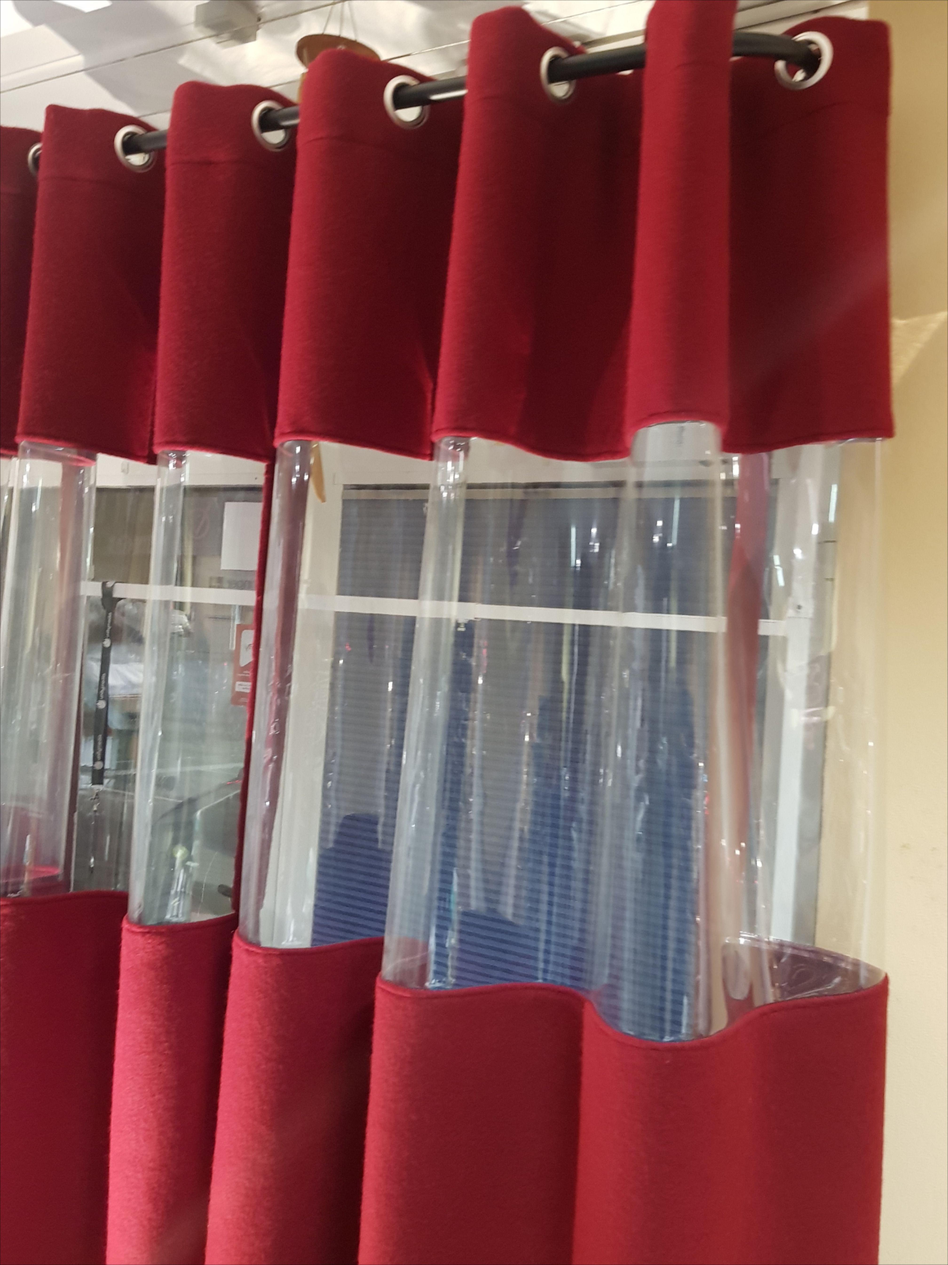 Gastro Vorhang Mit Sichtfenster Extra Schwer Schurwolle Flammenhemmend B1 Gardinenstange Vorhange Outdoor Vorhange