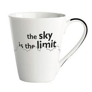 """Porcelánový hrnek """"The sky is the limit"""""""
