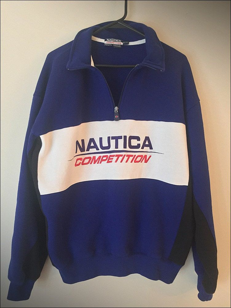 Vintage 90 39 S Nautica Competition 1 3 Zip Pullover Crewneck Size Xl Athletic Jacket Pullover Nautica