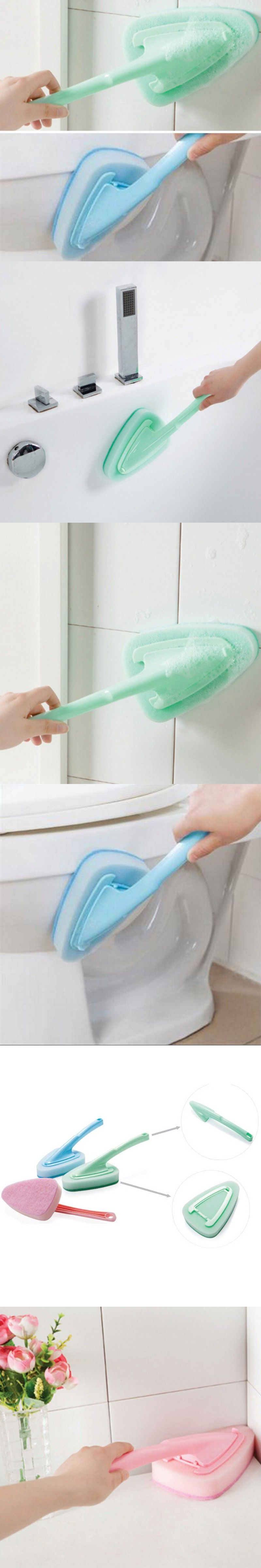 Triangles Shape Head Kitchen Bathroom Cleaning Brush Toilet Cleaning ...