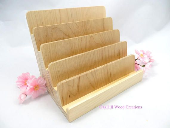 Multiple card holder 5 tier wood card display vertical multiple card holder 5 tier wood card display business card reheart Choice Image