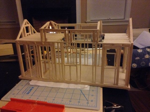 wanted to quickly share a picture of a tiny house framing model