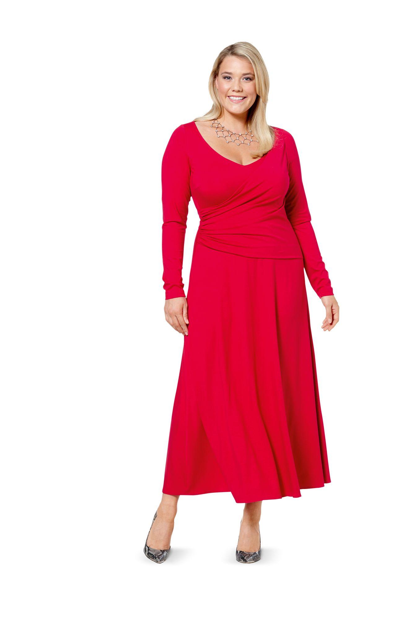 Платье с выкройкой для полных женщин