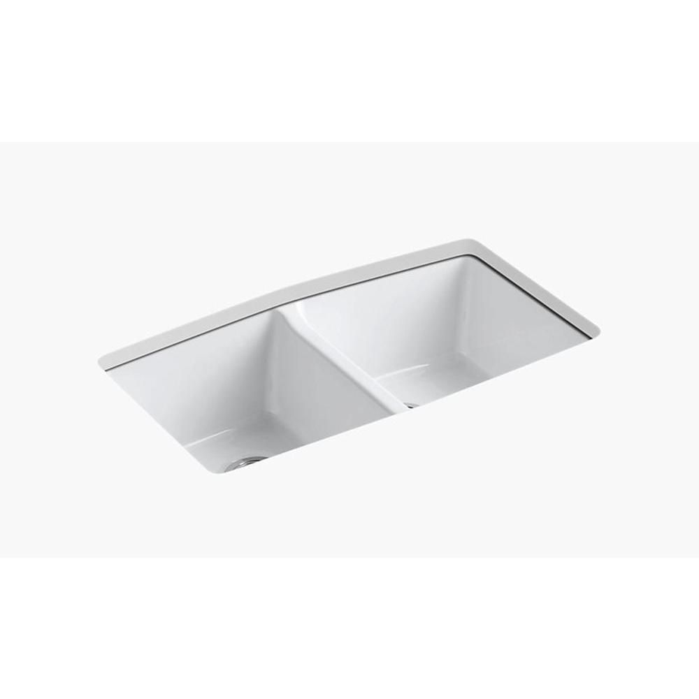Kohler Brookfield Undermount Cast Iron 33 In 5 Hole Double Bowl