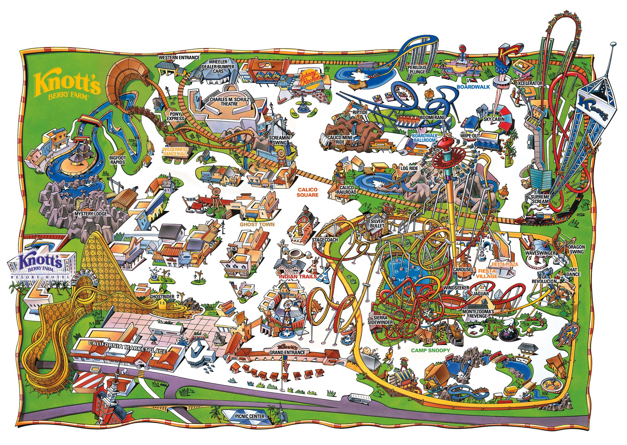 Park Map | Knott's Berry Farm, Buena Park, CA | rides in 2019 ... Knott S Berry Farm Map Official on disneyland map, oceans of fun map, legoland map, universal studios hollywood map, pink's hot dogs map, mt. olympus water & theme park map, kings dominion map, adventure city map, cedar point map, carowinds map, kings island map, ghost town in the sky map, california adventure map, magic kingdom map, kentucky kingdom map, islands of adventure map, wonderland park map, magic mountain map, canada's wonderland map, six flags map,