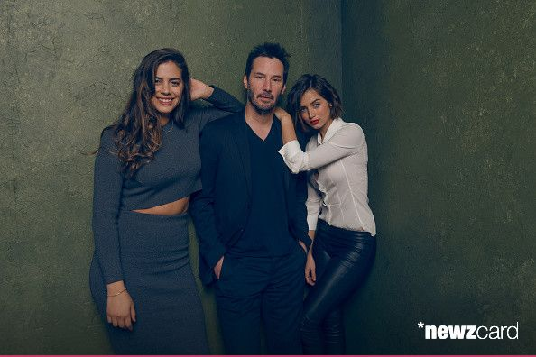 Keanu Reeves Lorenza Izzo And Ana De Armas From Knock Knock Keanu Reeves Sundance Film Festival Keanu Reaves