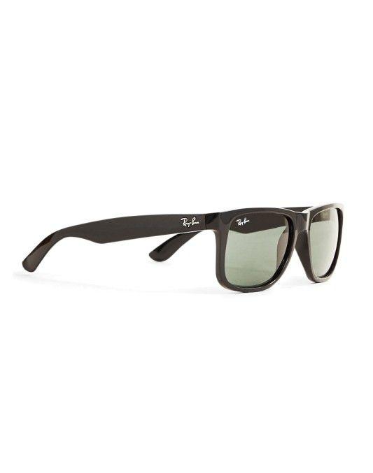 0efe916aeebe4 Ray-Ban Justin Sunglasses Large RB4165 601 71 Black Ray Ban Sunglasses