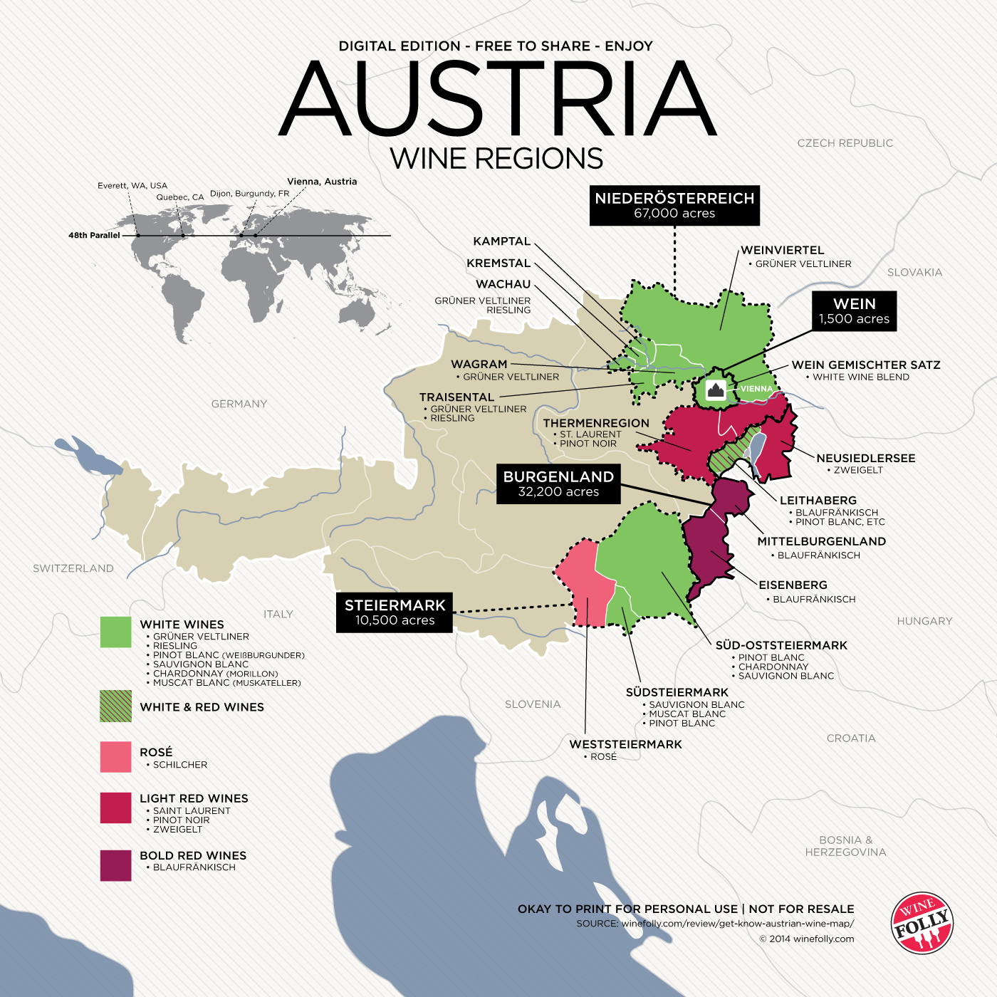 Get To Know Austrian Wine With Map Austria Wine And Wine Education - Austria regions map