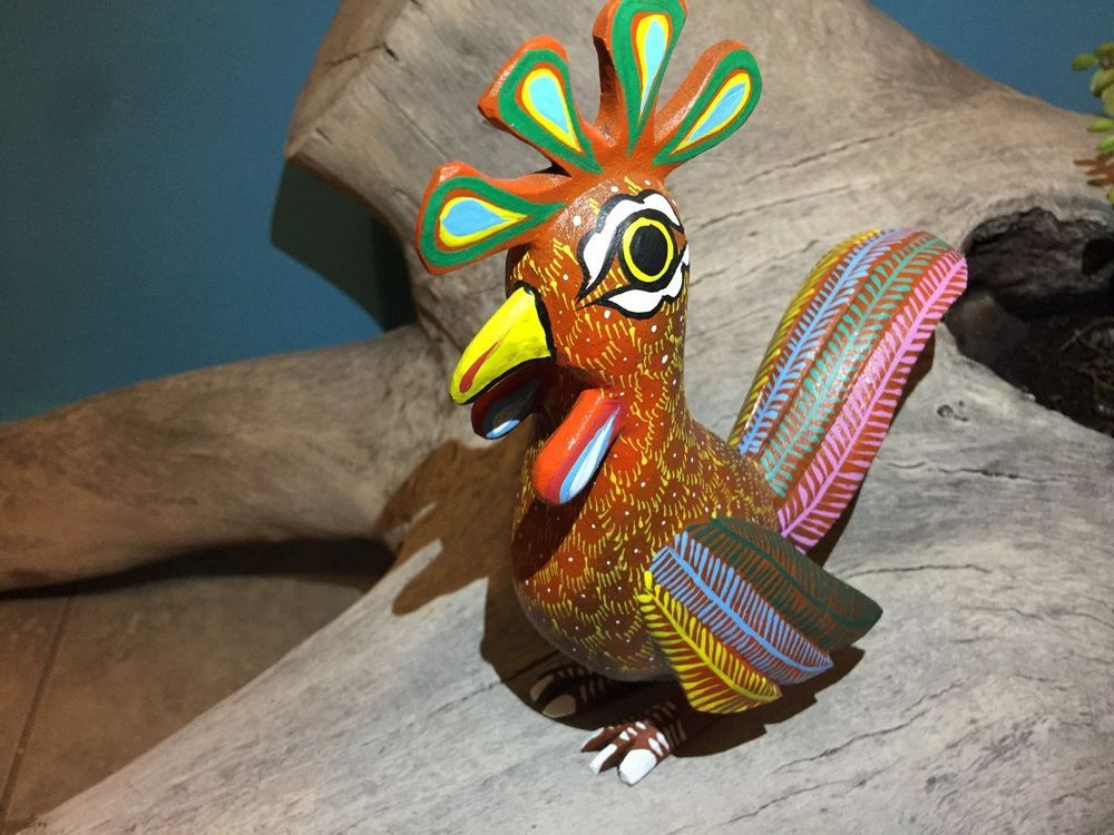 Review Oaxacan Carving Chick Fine Wood Carve Animals Hand Made Alebrijes Native Art Photos - Lovely finewood New Design