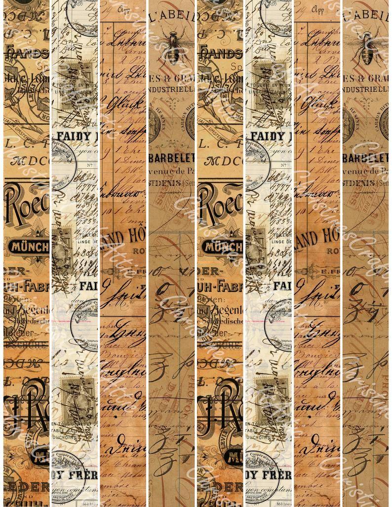 Vintage Washi Tape Printable Junk Journal Ephemera | Etsy ...