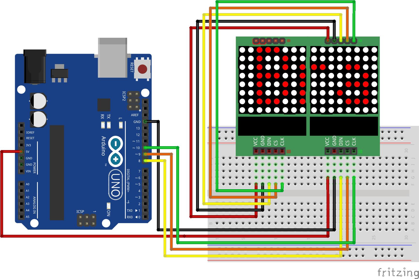 Dot Matrix Modul 8x8 Display Arduino 4 Matrix MAX7219 Led Lcd Raspberry Pi