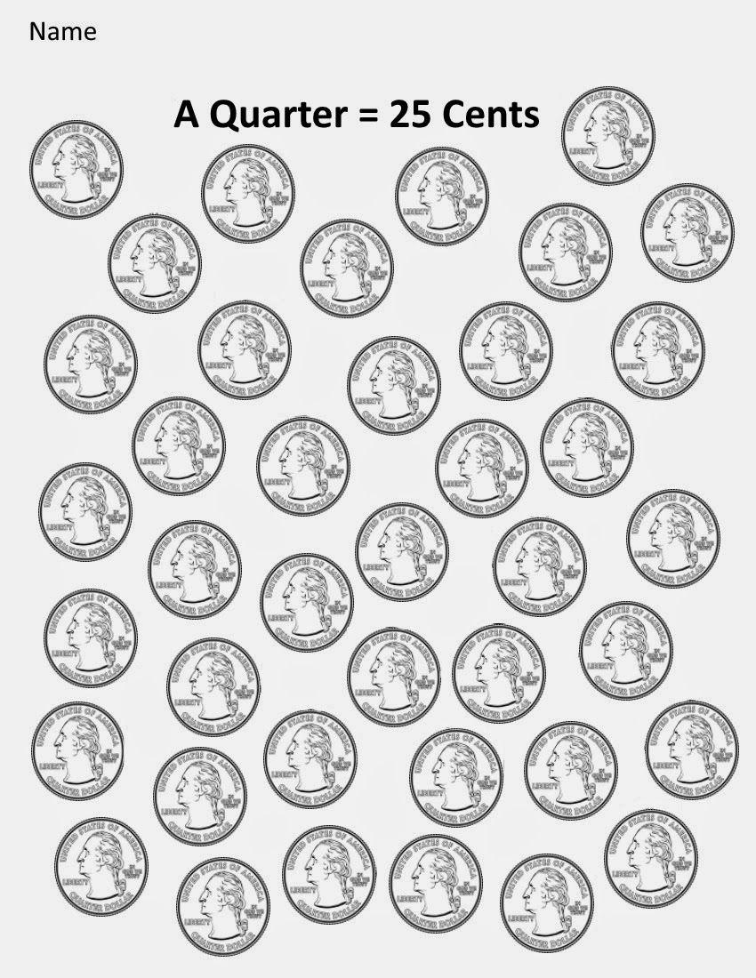 Kindergarten And Mooneyisms Coins Part Four A Quarter 25 Cents Money Math Money Activities Money Worksheets