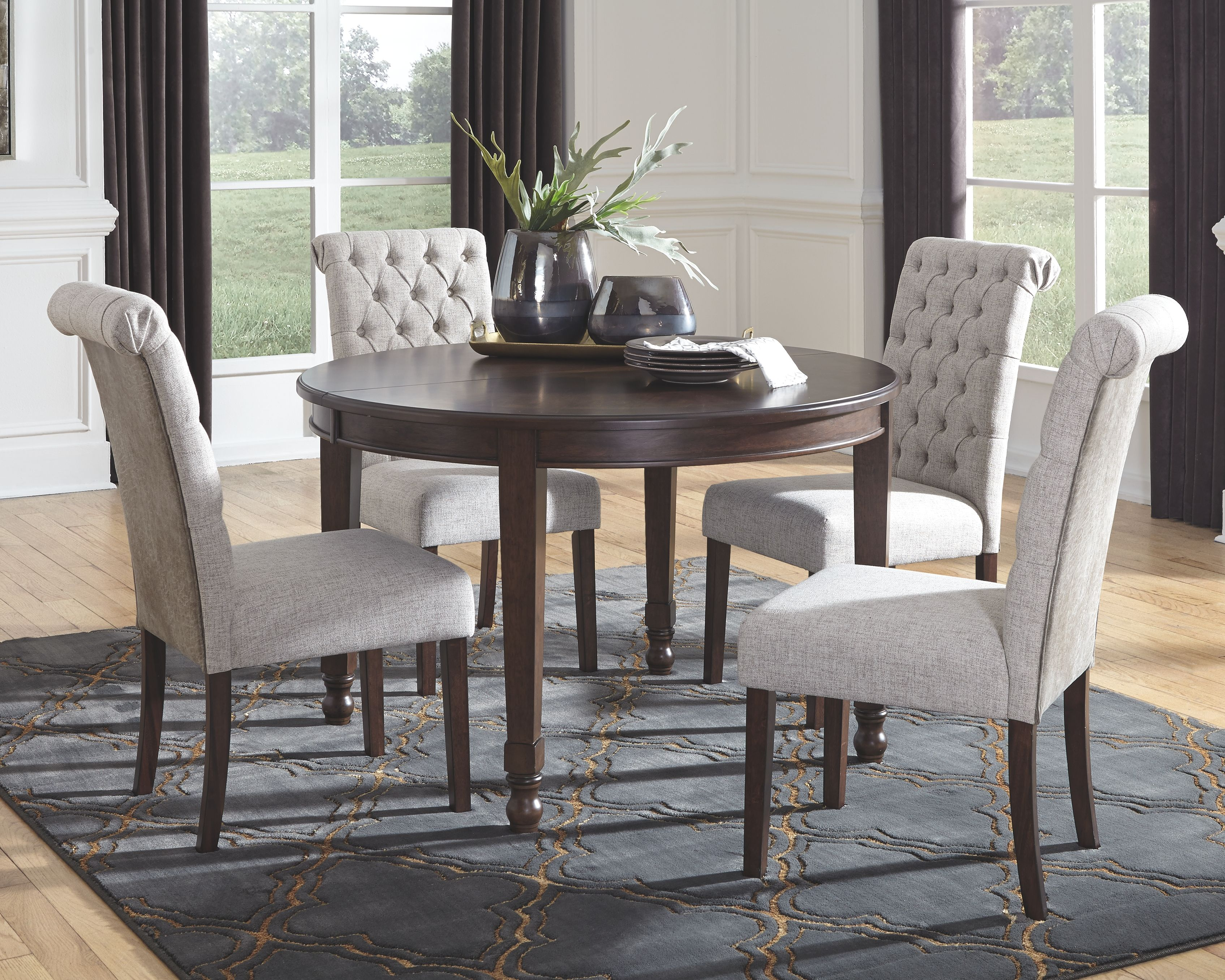 Adinton Dining Extension Table In 2020 Upholstered Side Chair Extension Table Room Extensions