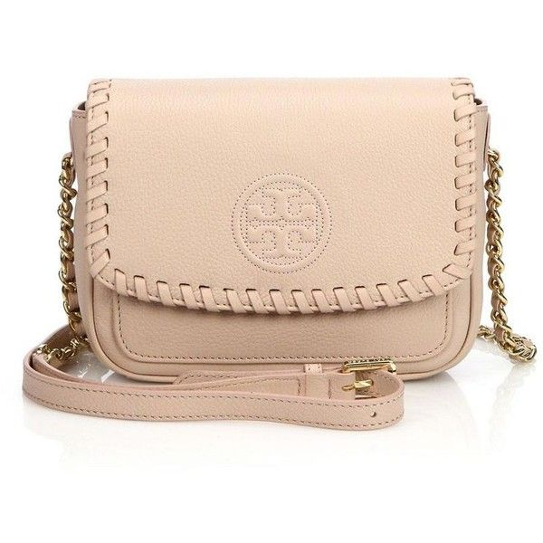 b31ce03f9da Tory Burch Marion Mini Crossbody Bag ($415) ❤ liked on Polyvore featuring  bags, handbags, shoulder bags, apparel & accessories, leather purse, tory  burch ...