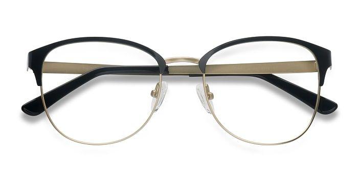 050718ea208 Black Golden The Moon - Metal Eyeglasses by EyeBuyDirect