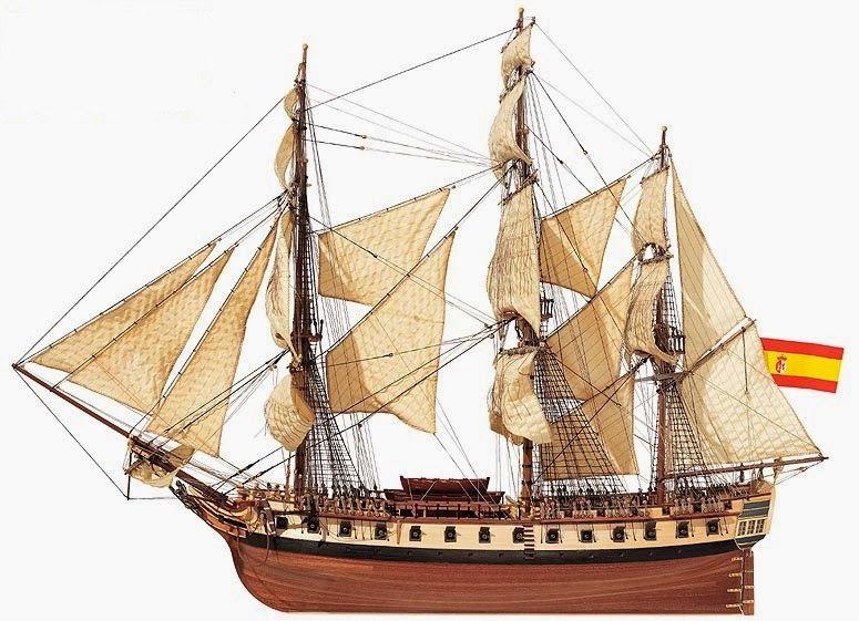 Spanish frigate of 34 guns.