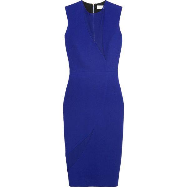 slim-fit panelled dress - Blue Victoria Beckham Sale Extremely rAR5HfK