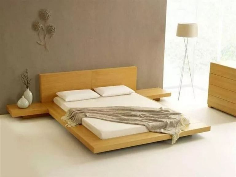Minimalist Wooden Bed Japanese Style Bedroom Japanese Bedroom