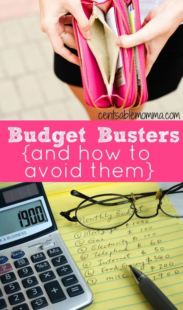 6 Budget Busters {and How to Avoid Them} | Budgeting ...
