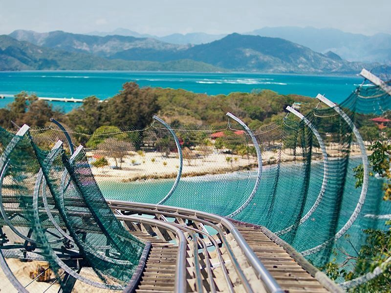 Explore The Beauty Of Caribbean: Labadee Haiti Roller Coaster. Darell And I Rode It Over