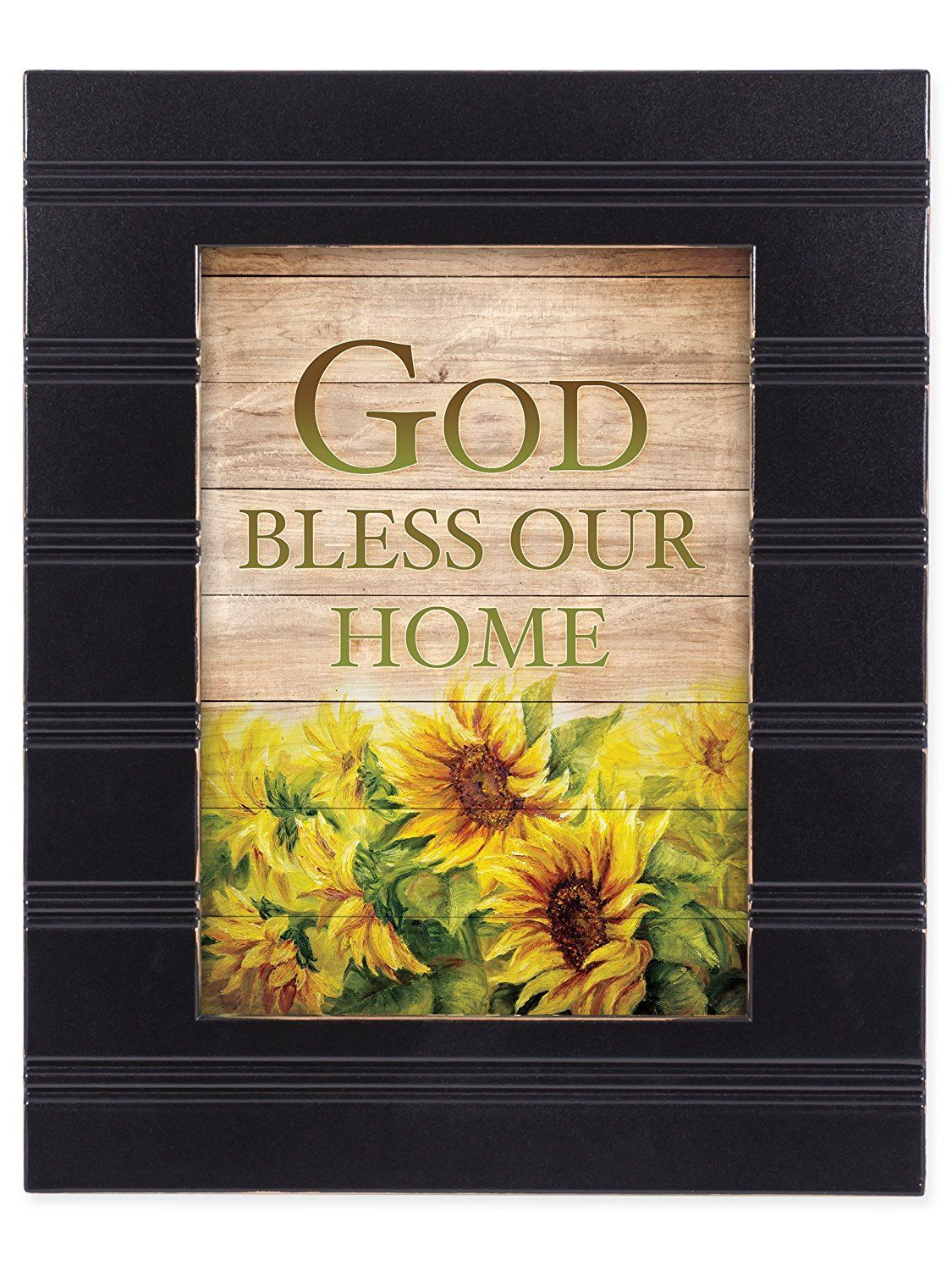God Bless Our Home Black with Gold Trim 8 x 10 Framed Wall Art ...