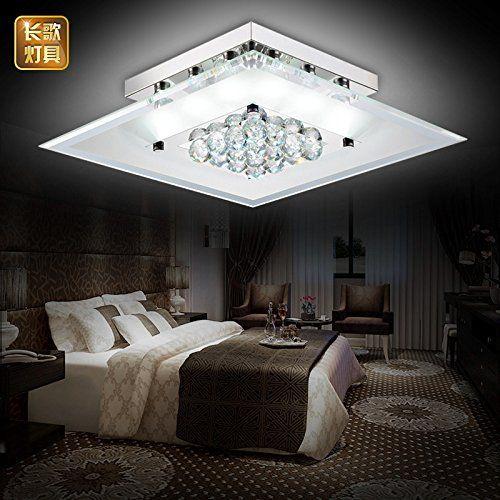 Yposion LED Ceiling Light Square Living Room Crystal Lamp Living Room  Ceiling Lamp Lights Hall Square