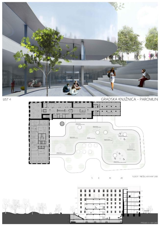 Gradska Knjiznica Grada Zagreba Paromlin Floor Plans Diagram