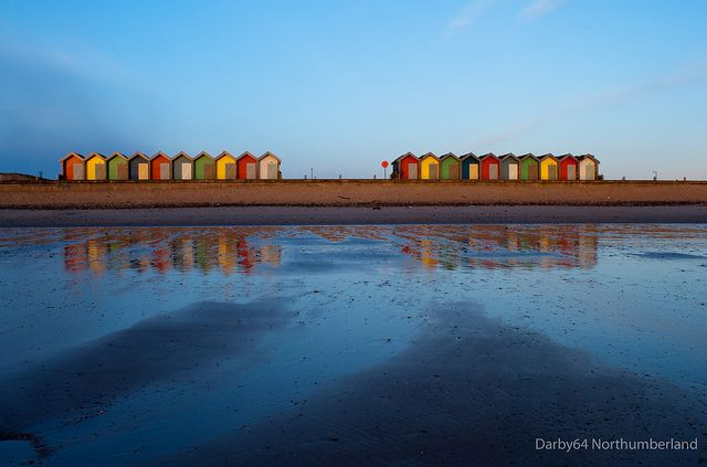Blyth Northumberland Beach Huts At Sunrise 18 03 11 By Darbyg Via
