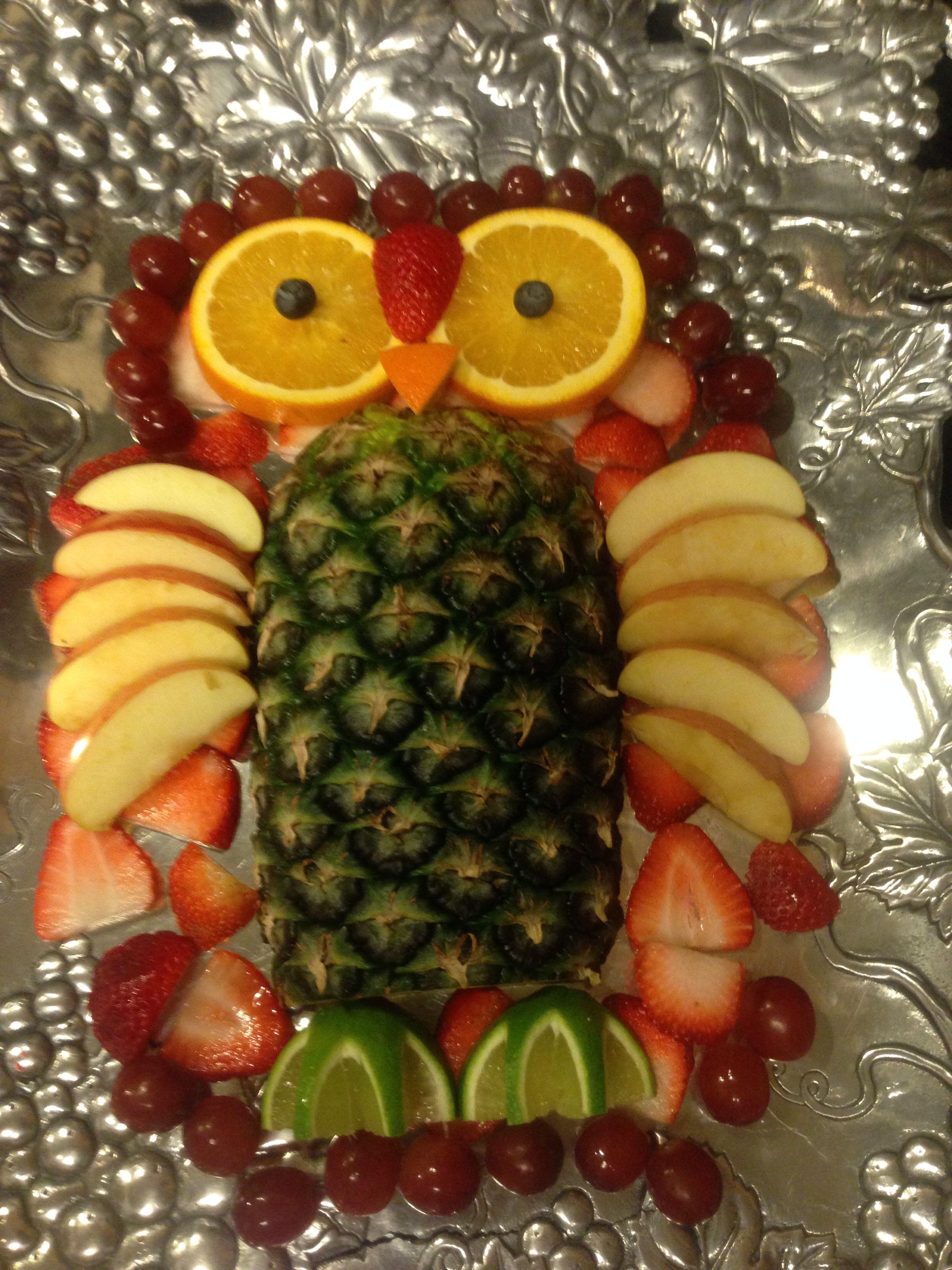 Owl fruit tray | Food | Pinterest | Trays