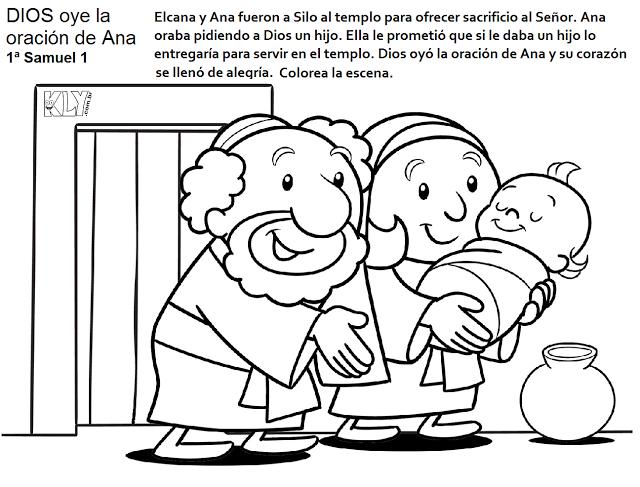 Samuel Dibujos Para Colorear Historias Biblicas Para Ninos