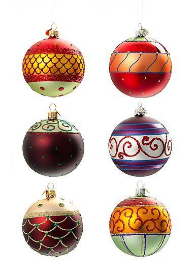 Christbaumkugeln Glas Günstig.Christbaumkugel Harlekin Glas ø8 Cm 6er Set Tree Ornaments