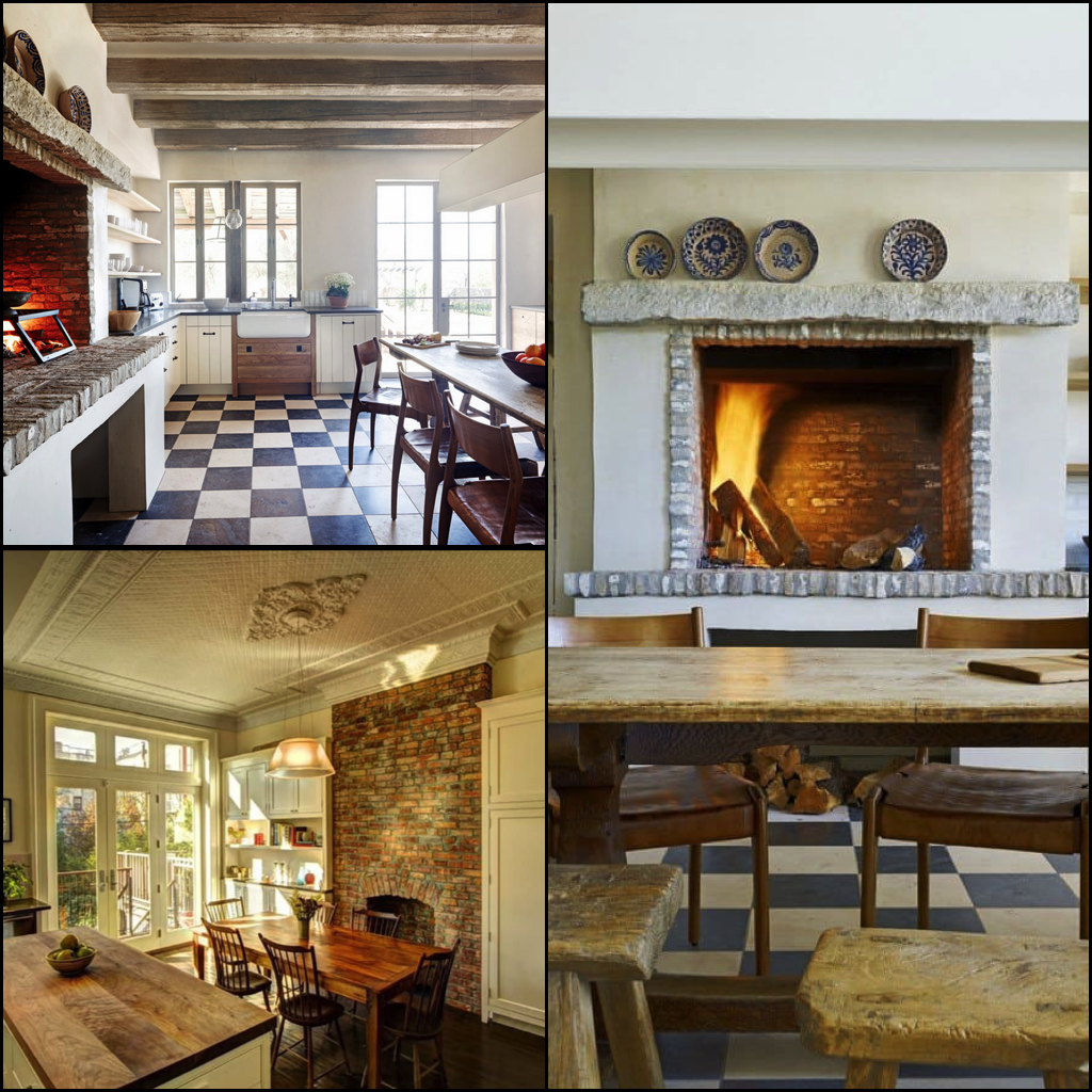 6 Varieties Of Glowing Kitchen Fireplaces