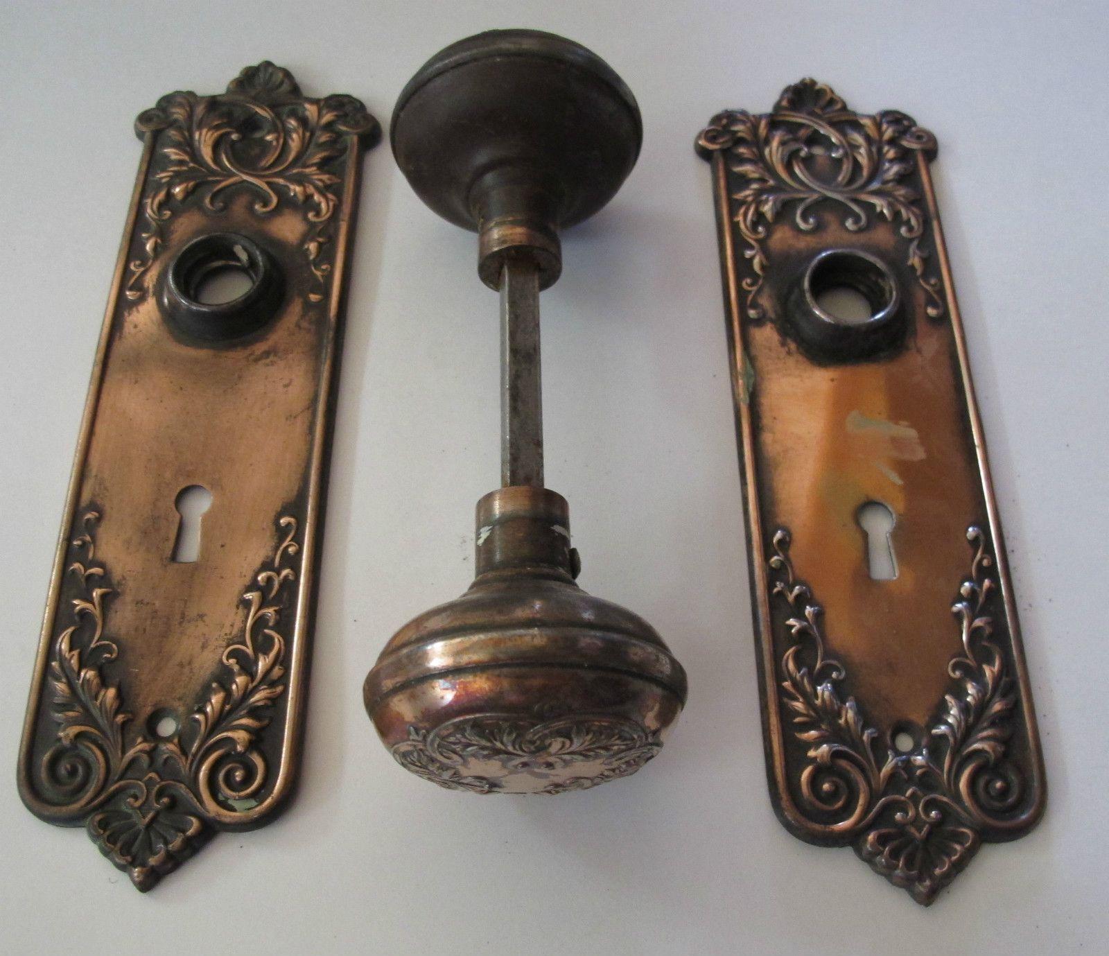 Antique copper door knob and faceplate. $35 | Cabin in Colorado ...