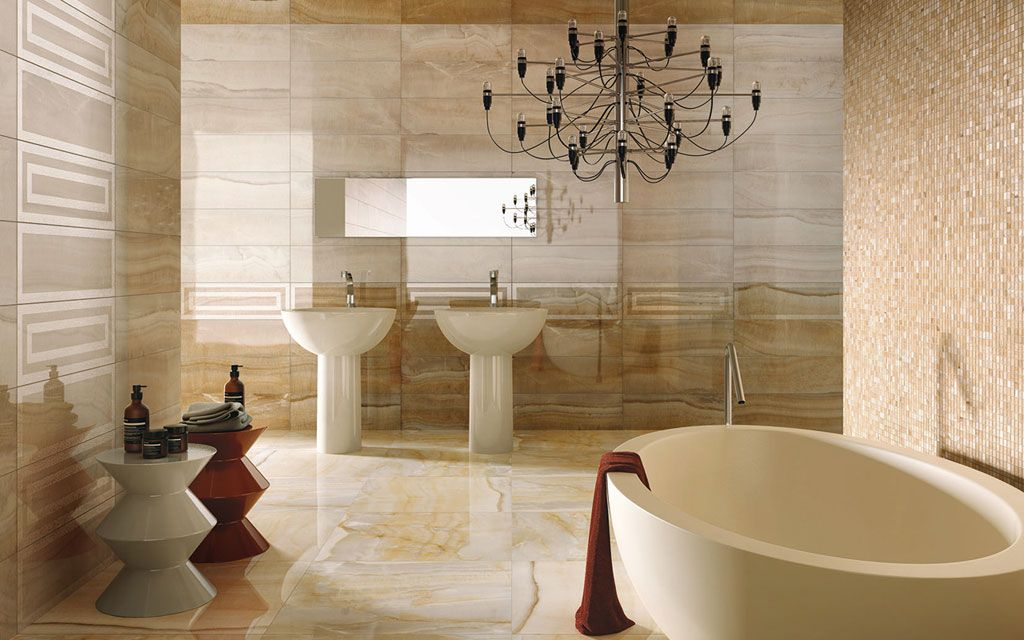 The Ideal Bathroom With Porcelain Surfaces