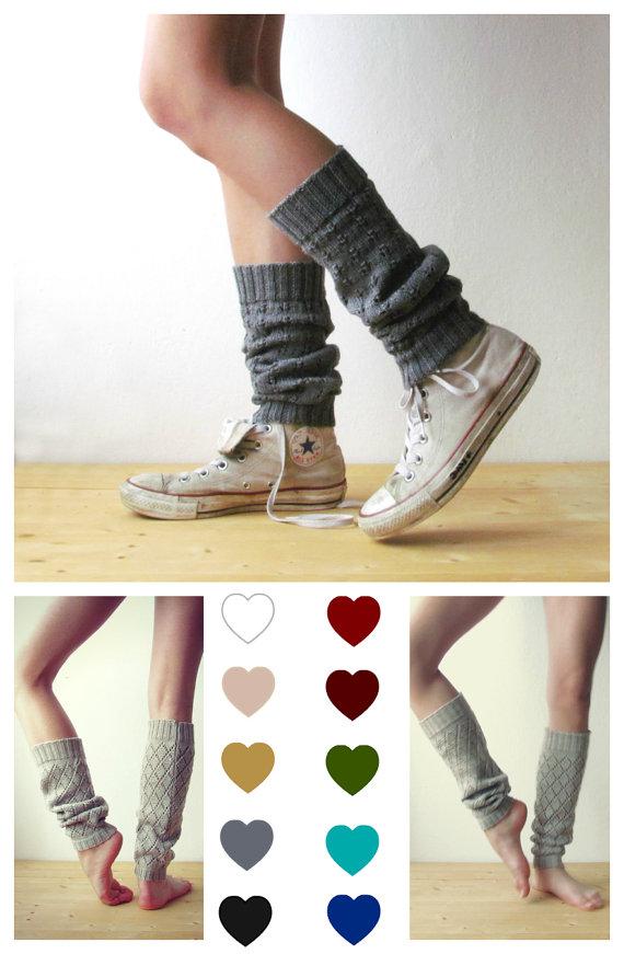 Grey Leg Warmers Boot Cuff Grey Boot Socks Urban Clothing