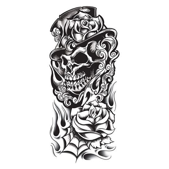 Black Rose Skull Tattoo Designs 40 Black And White Tattoo Designs