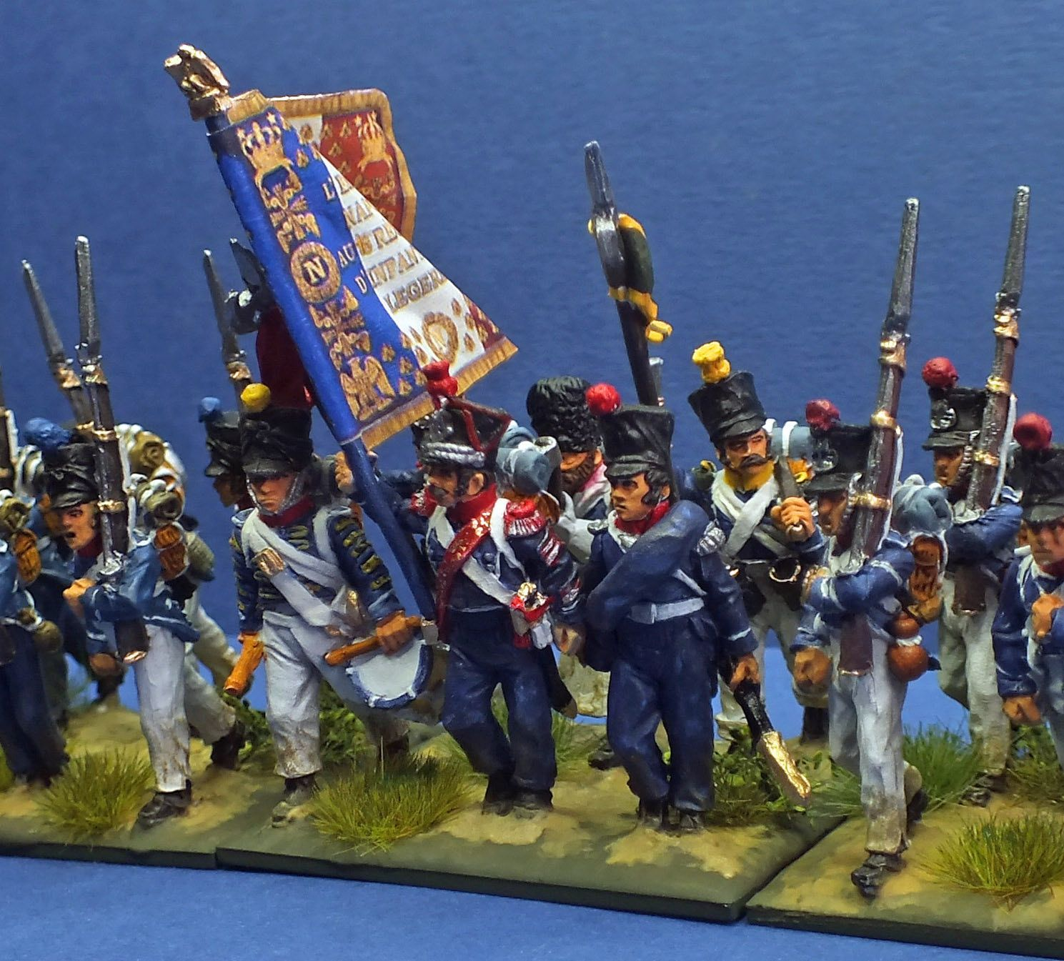 28mm French Napoleonic Light Infantry c 1812 | Wargaming