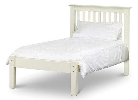 Barcelona Off White Low Foot End Bed