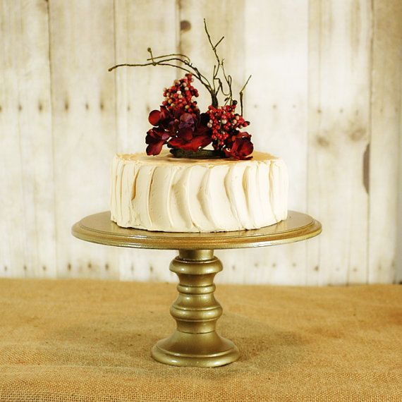 One Rustic Pedestal Cake Stand any color by RoxyHeartVintage, $75.00 ...