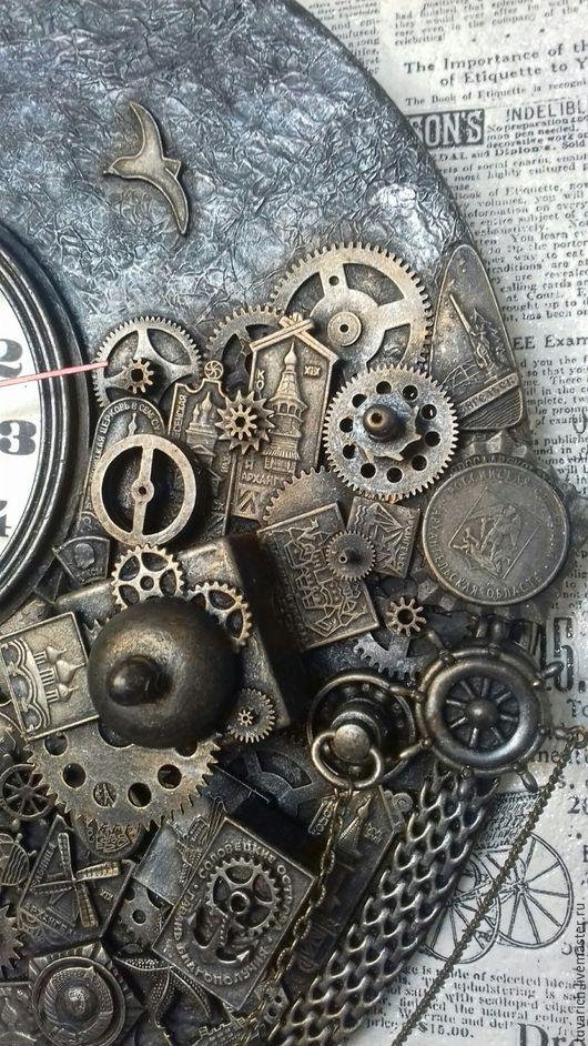 Часы стимпанк (steampunk) - Белое море. мастер Ольга ...