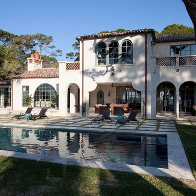 Mediterranean Exterior Cottage Design, Pictures, Remodel, Decor and