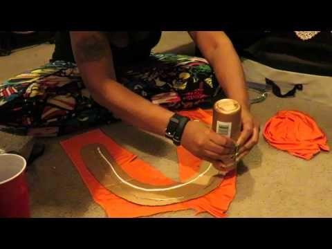 ba6e473e1fe1a DIY carnival feather collar - YouTube
