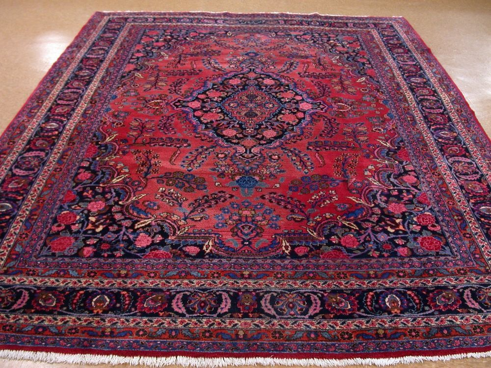 9 X 12 Persian Mashad Hand Knotted Wool