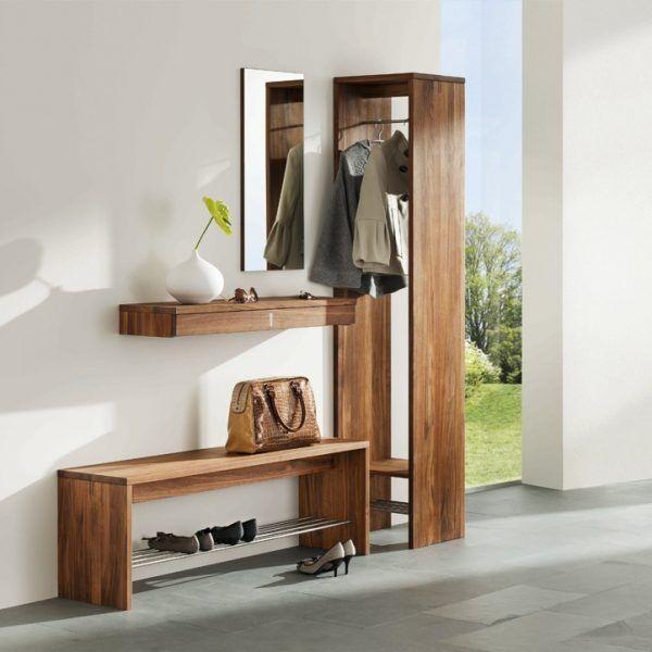 Garderobe | Nussbaum massiv | geölt - bei Möbel Morschett ...